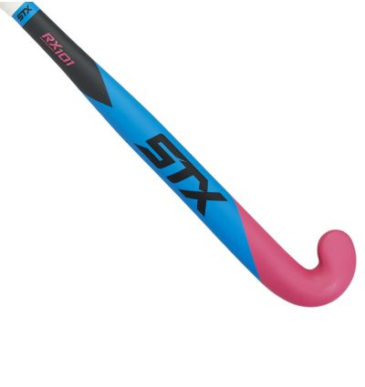 STX Rx101 Field Hockey Stick, Blue and Pink, Outside View