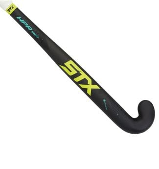 STX HPR 901 Field Hockey Stick, Black Yellow and Teal, Outside View