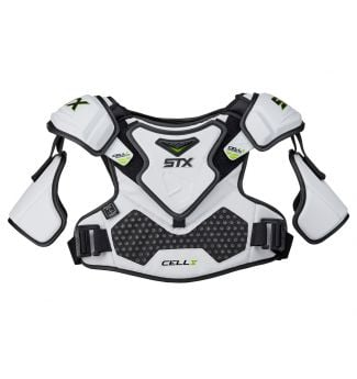 Cell V Shoulder Pad Front White