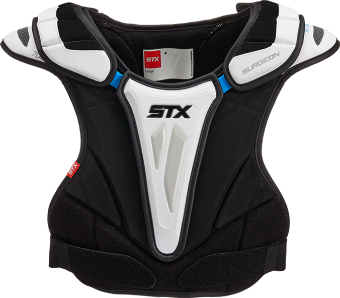 front view of the surgeon 700 stx mens ice hockey shoulder pad