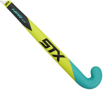 STX HPR 101 Field Hockey Stick, Yellow and Teal, Outside View