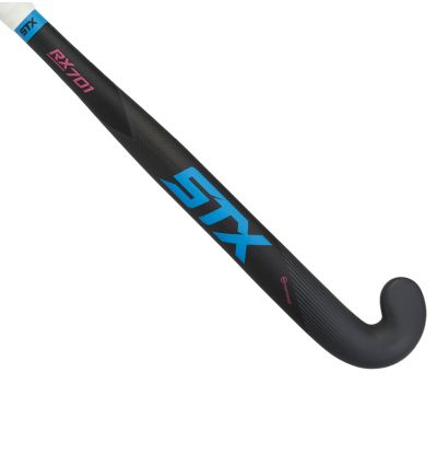 STX Rx 701 Field Hockey Stick, Black Blue and Pink, Outside View