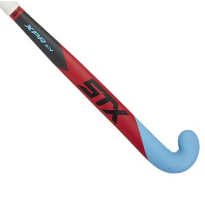 STX XPR 101 Field Hockey Stick, Red and Blue, Outside View