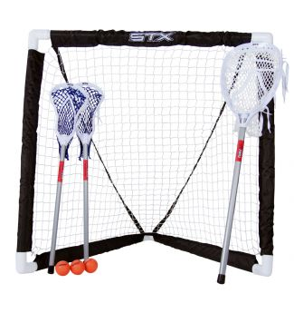 STX Lacrosse FiddleSTX Game Set - 3 Sticks with Plastic Handle