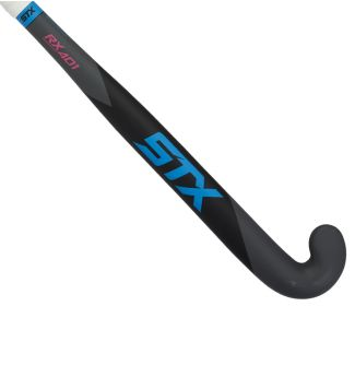 STX RX 401 Field Hockey Stick, Black Blue and Pink, Outside View