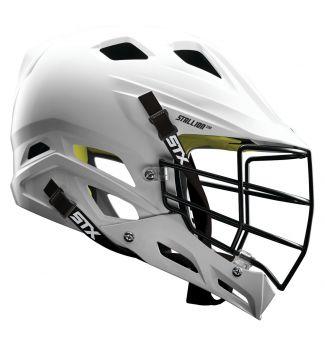 STX Stallion 100 youth lacrosse helmet side view